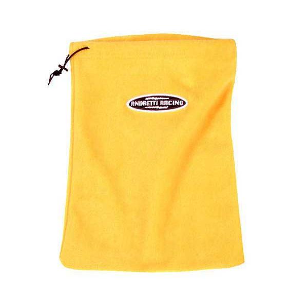 Fleece accessory bag yellow