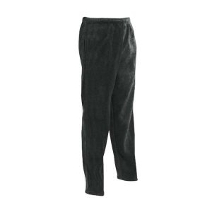 Black unisex polar fleece sweat pants with side front pockets