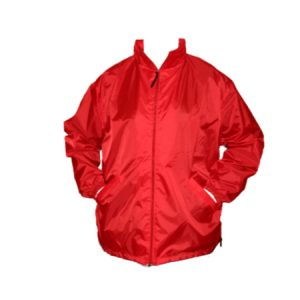 A Red Full Zip Ripstop Windbreaker Nylon Jacket