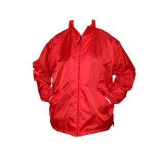 A Red Full Zip Ripstop Windbreaker Nylon Jacket