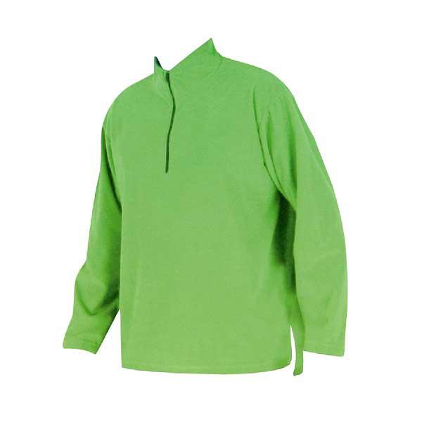 Green polar fleece zip tee