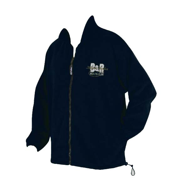 Black polar fleece jacket with full zipper