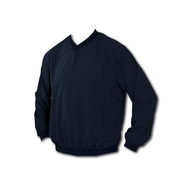 Dark blue v-neck pullover windshirt