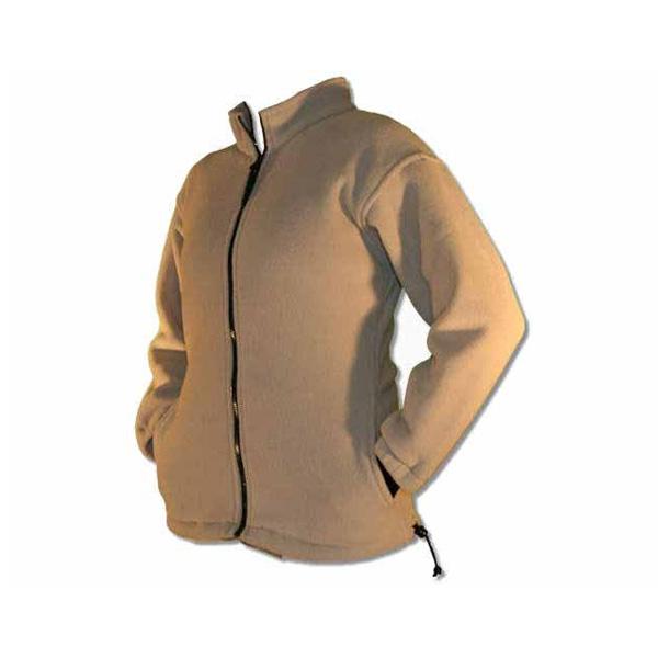 Ladies' full zip cream fleece fitted jacket