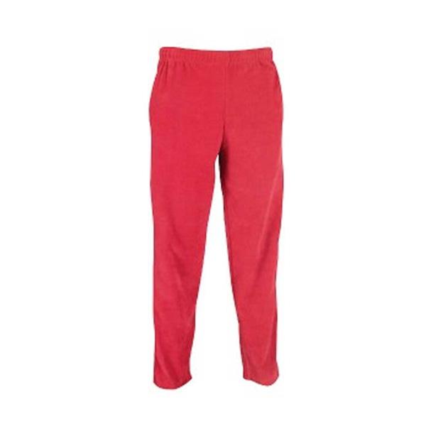 Youth polar fleece sweat pants red