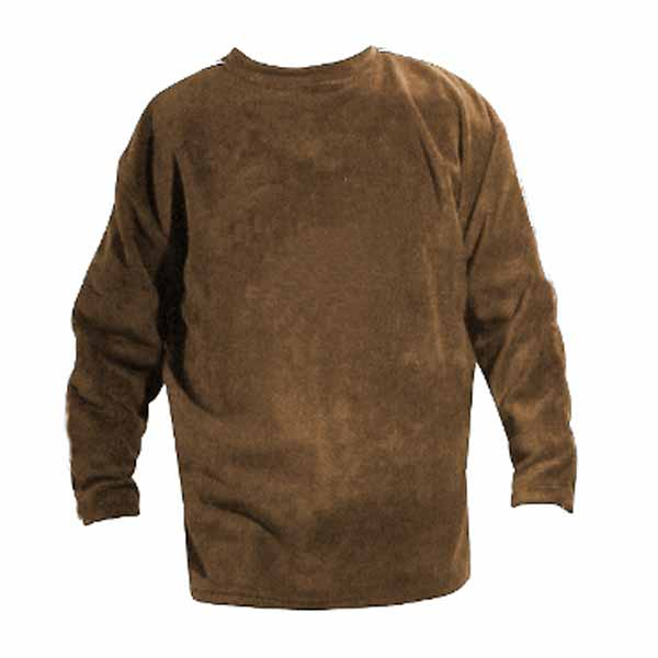 Khaki long sleeve crewneck polar fleece
