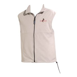 white front zip fleece vest