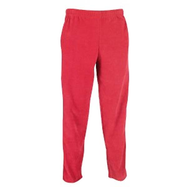 bright pink open leg fleece pants