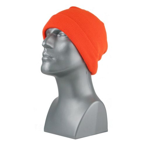 BLAZE ORANGE KNIT CUFF HAT 00714 (must buy in increments of 12)