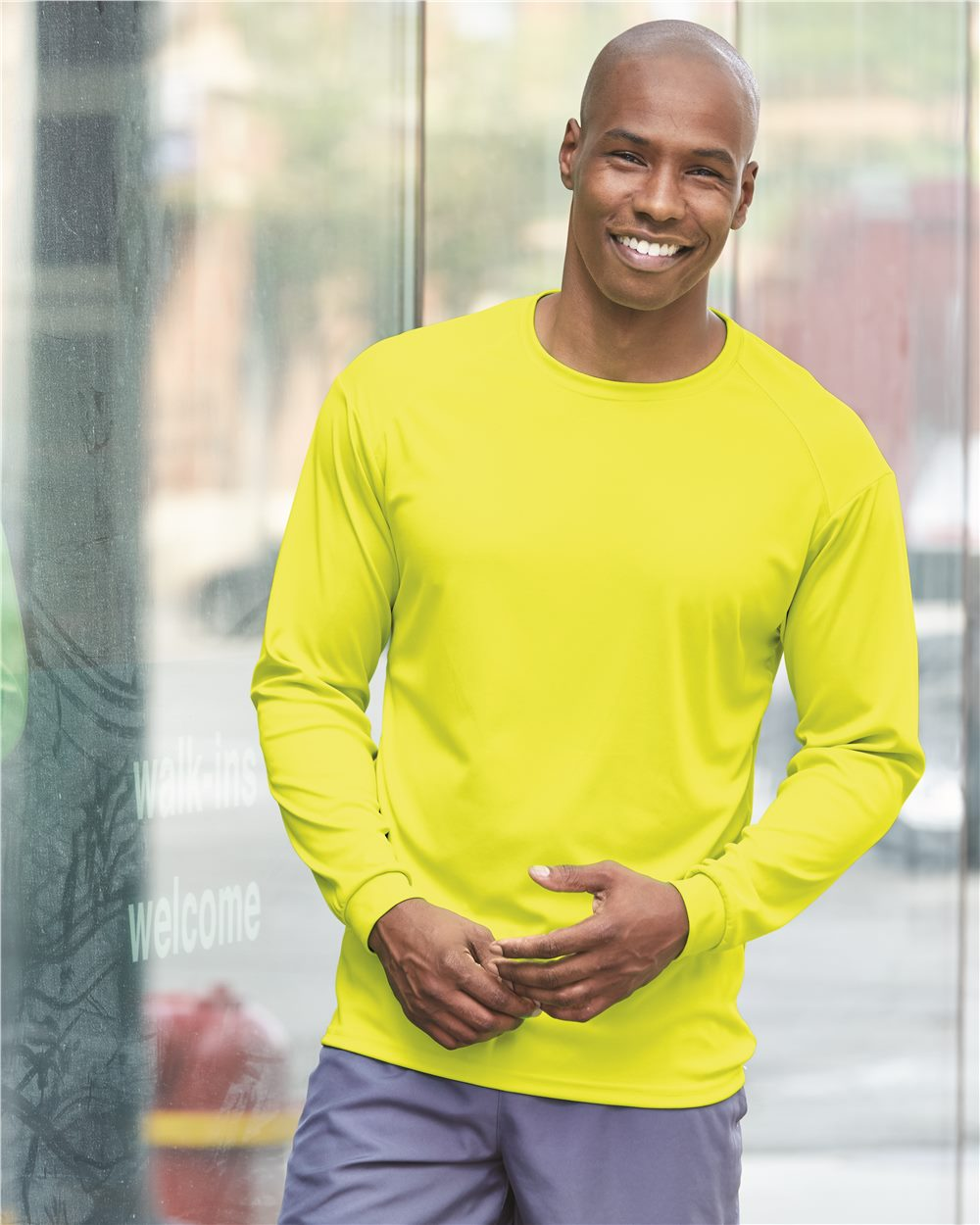 4104 Badger LS moisture Wicking Tech Shirt (available in over 15 colors)