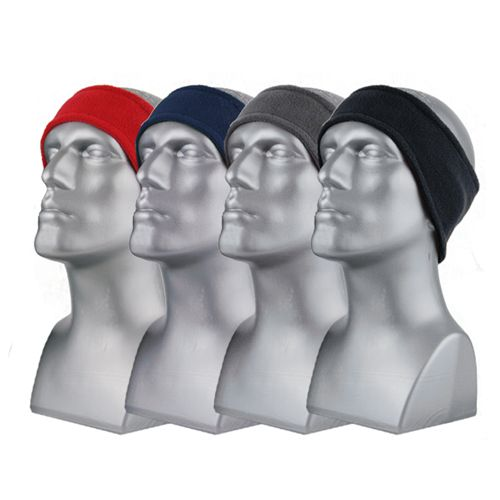DOUBLE-LAYER SPORT FLEECE HEADBAND 6065 asst colors- Blk only 60768