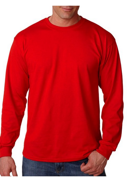 G840 Gildan Adult 5.5 oz., 5050 Long-Sleeve T-Shirt (available in over 15 color)